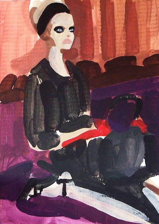 Untitled Prada black with red gloves